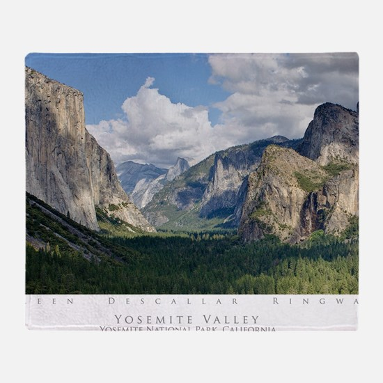 YosemiteValley14x10 Throw Blanket