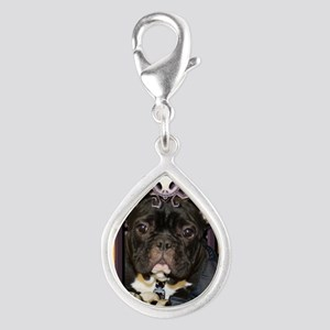 HalloweenNightmare_French_B Silver Teardrop Charm