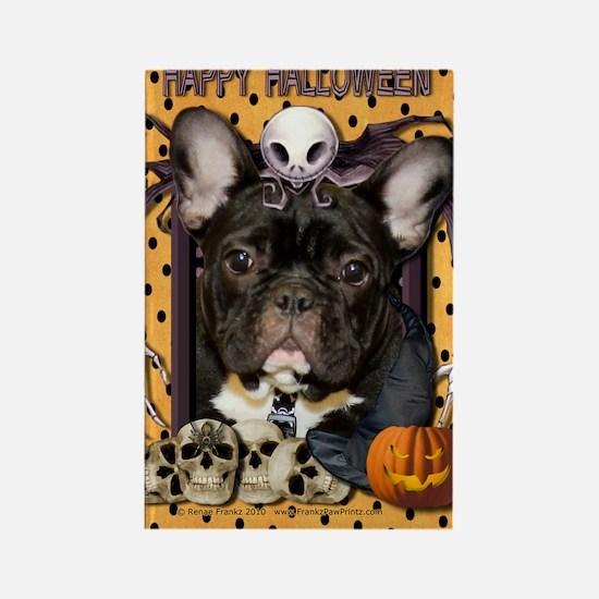 HalloweenNightmare_French_Bulldog Rectangle Magnet