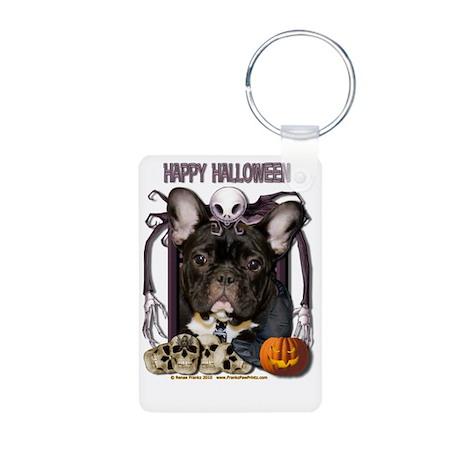 HalloweenNightmare_French_ Aluminum Photo Keychain
