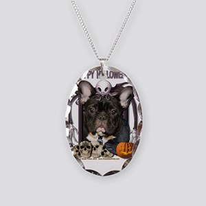 HalloweenNightmare_French_Bull Necklace Oval Charm