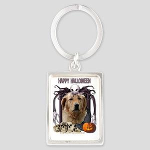 HalloweenNightmare_Golden_Retrie Portrait Keychain