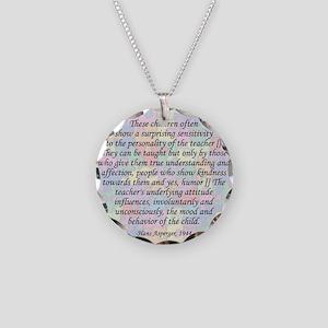 traits clock copy Necklace Circle Charm