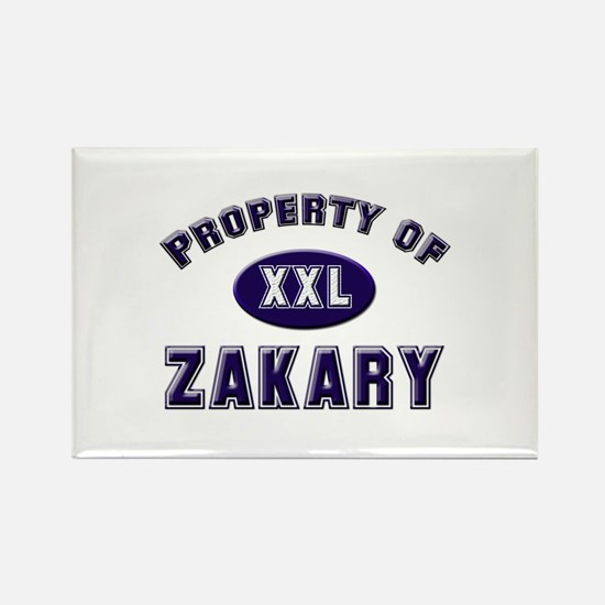 My heart belongs to zakary Rectangle Magnet