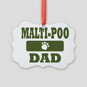 Malti-Poo Dad Picture Ornament