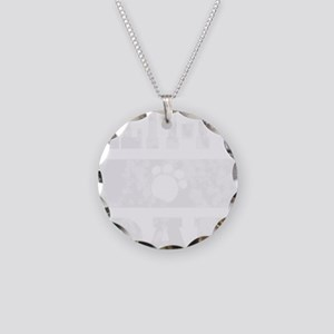 VintageWhiteMP Necklace Circle Charm