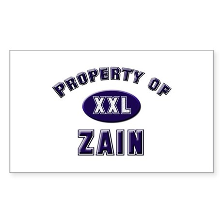 My heart belongs to zain Rectangle Sticker