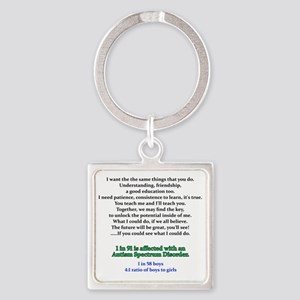 if u could see quote Square Keychain