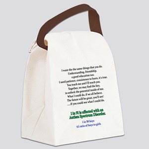 if u could see quote Canvas Lunch Bag