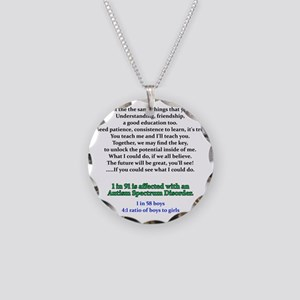 if u could see quote Necklace Circle Charm