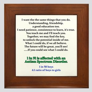 if u could see quote Framed Tile