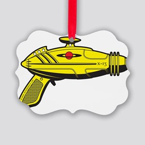 RaygunYellow Picture Ornament