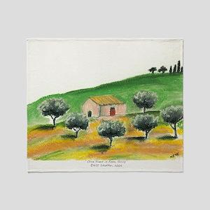 IMG_0054-olive trees in Enna center Throw Blanket
