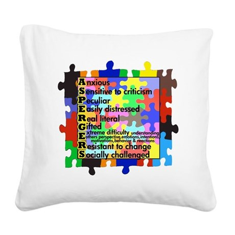 asd traits fut no white Square Canvas Pillow
