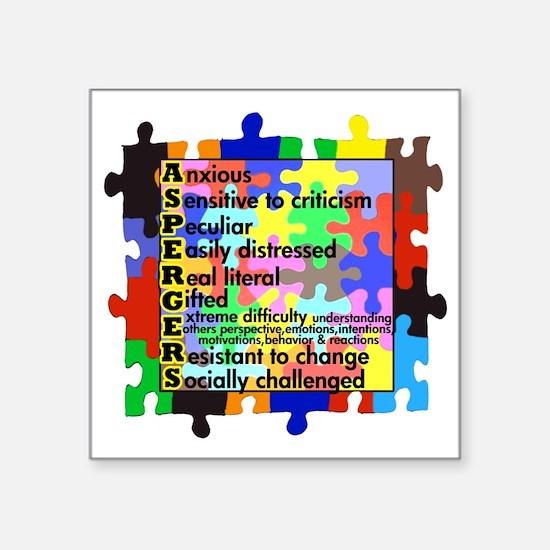 """asd traits fut no white Square Sticker 3"""" x 3"""""""