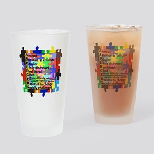 asd traits fut no white Drinking Glass