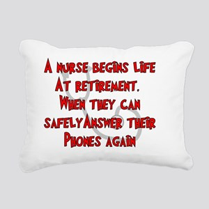 Retired Nurse RED Answer Rectangular Canvas Pillow