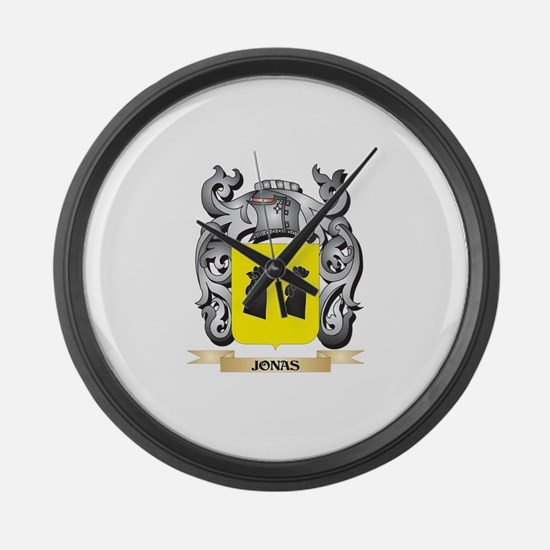 Jonas Coat of Arms - Family Crest Large Wall Clock