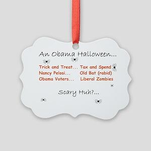 Obama Halloween 2010 Picture Ornament
