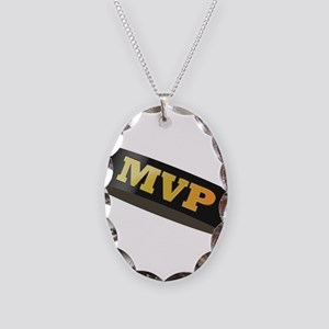 Hockey Puck MVP Necklace Oval Charm