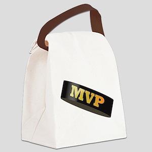 Hockey Puck MVP Canvas Lunch Bag