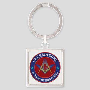 Freemason Brothers Square Keychain