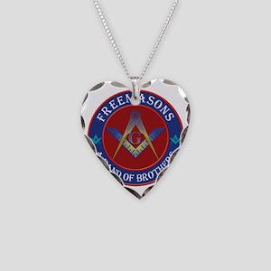 Freemason Brothers Necklace Heart Charm