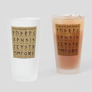 All-Runes-flat_10x10 Drinking Glass