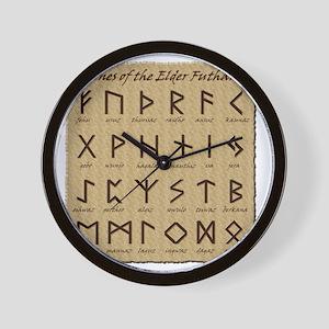 All-Runes-flat_10x10 Wall Clock
