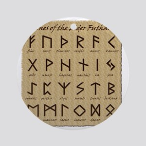 All-Runes-flat_10x10 Round Ornament
