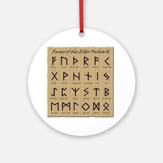 All-Runes-flat_10x10 Round Ornament