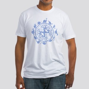 dino circle3 Fitted T-Shirt