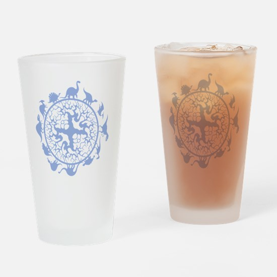 dino circle3 Drinking Glass