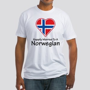 Happily Married Norwegian Fitted T-Shirt