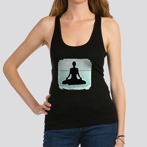 3-Yogasittingplastergreenstripe Racerback Tank Top