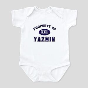 My heart belongs to yazmin Infant Bodysuit