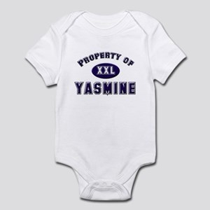 My heart belongs to yasmine Infant Bodysuit