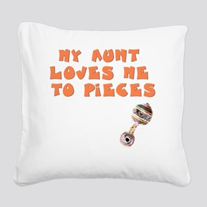 aunt-loves-to-pieces Square Canvas Pillow