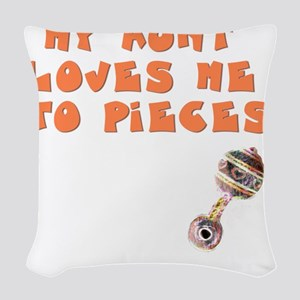 aunt-loves-to-pieces Woven Throw Pillow