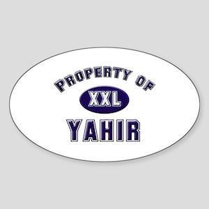 My heart belongs to yahir Oval Sticker