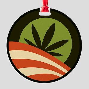 Hope Leaf Round Ornament