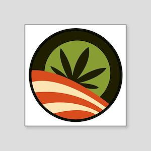 "Hope Leaf Square Sticker 3"" x 3"""