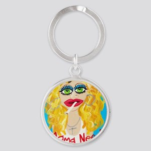 cocktail blonde Round Keychain