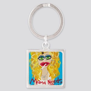 cocktail blonde Square Keychain