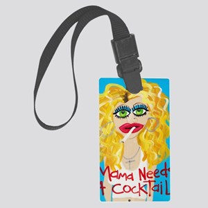 cocktail blonde Large Luggage Tag