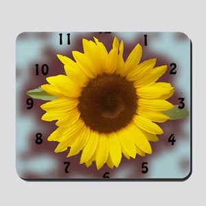 sunflower wall clock2 Mousepad