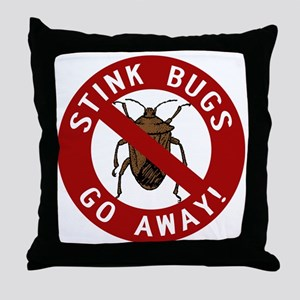 stink bug-go-away Throw Pillow