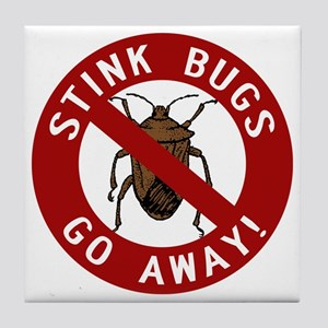 stink bug-go-away Tile Coaster