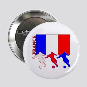 "Soccer France 2.25"" Button (10 pack)"