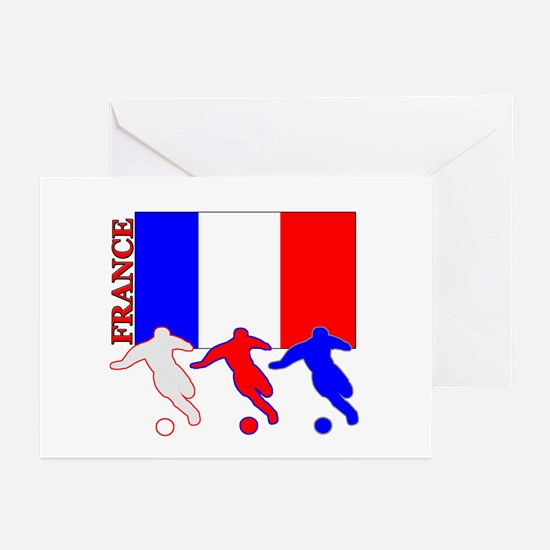 Soccer France Greeting Cards (Pk of 10)